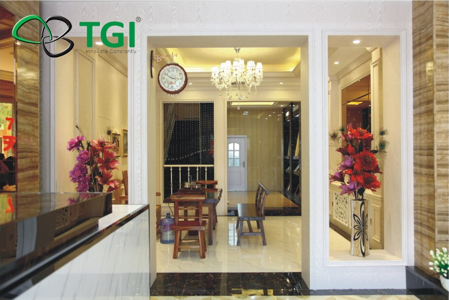 Vật liệu ốp tường vân gỗ nhận được nhiều sự lựa chọn của khách hàng