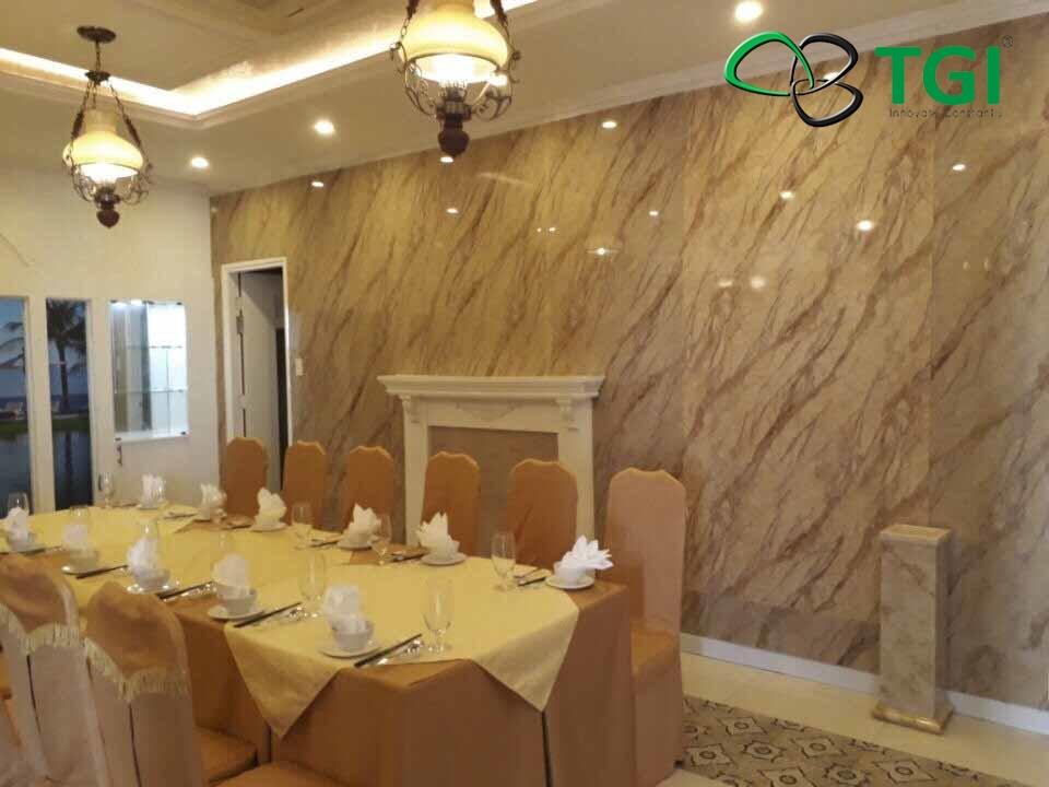 Ứng dụng tấm nhựa giả đá trong thiết kế nội thất