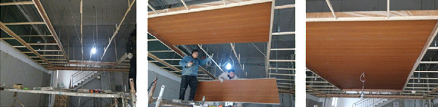trần nhựa giả gỗ