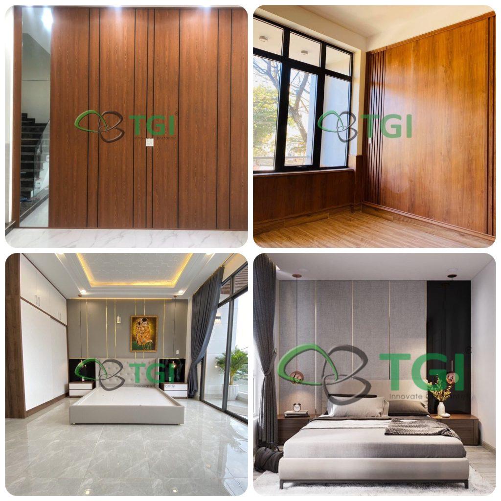 ứng dụng nhựa giả gỗ ốp tường trang trí nội thất